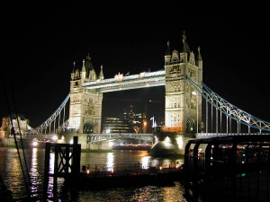 Tower Bridge at Night (photo copyrighted by Jeff Lambert)