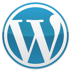 Blue WordPress Button