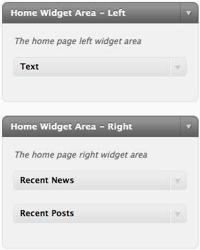 Assigning Widgets