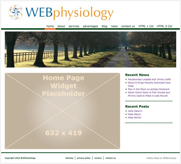 NoNonsense Theme Home Page