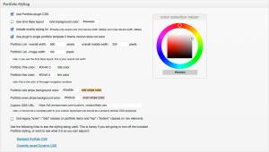 WEBphysiology Portfolio Styling Options