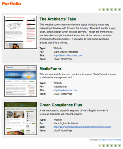 WEBphysiology Portfolio WordPress Plugin