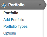 WEBphysiology Portfolio Admin Menu