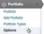 WEBphysiology Portfolio Admin Options Menu