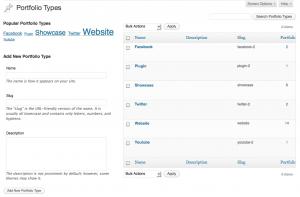 WEBphysiology Portfolio - Portfolio Type Management