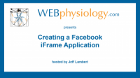 Creating a Facebook iFrame Application (8:31)