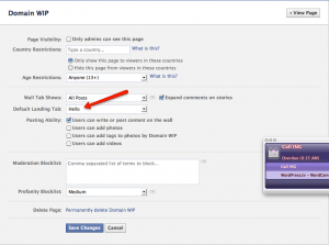 Manage Facebook Page Permissions
