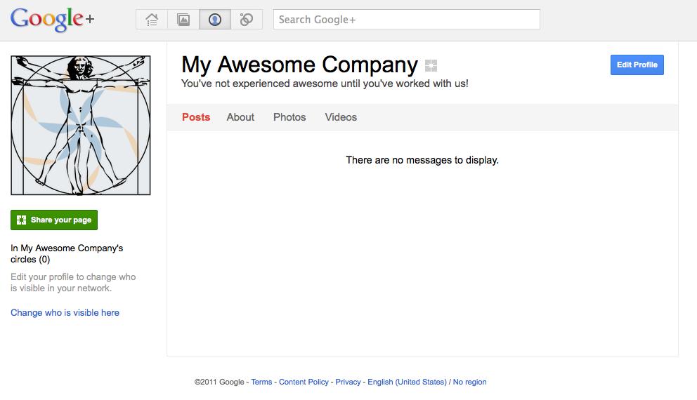 Google+ Main Company Page