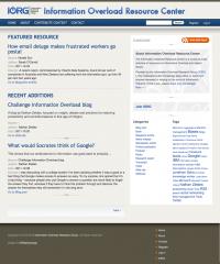 Information Overload Resource Center